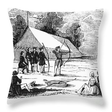 Archery, C1830 Throw Pillow by Granger