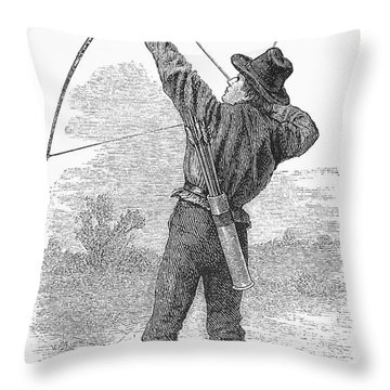 Archery, C1880s Throw Pillow by Granger