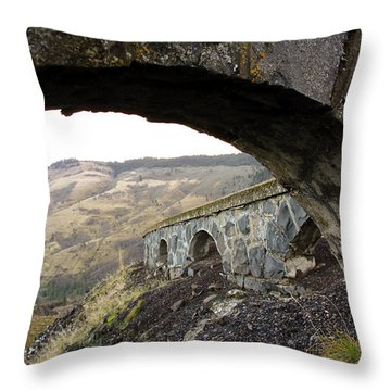 Throw Pillow featuring the photograph Arches And Mountains by Steve McKinzie