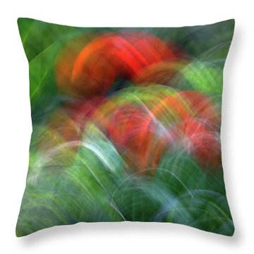 Arches Of Flowers Throw Pillow