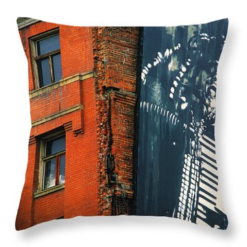 Architecture Calgary Throw Pillow by Bob Christopher