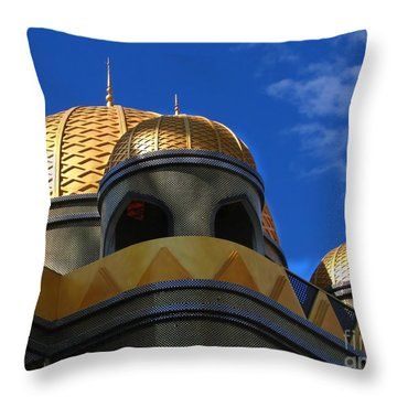 Architecture In Middle Eastern Style Throw Pillow by Yali Shi