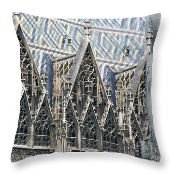 Architecture Of Vienna Throw Pillow by Evgeny Pisarev