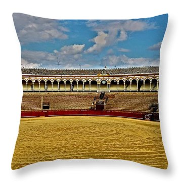 Arena De Toros - Sevilla Throw Pillow