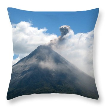Throw Pillow featuring the photograph Arenal Eruption by Eric Tressler