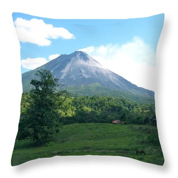 Throw Pillow featuring the photograph Arenal by Eric Tressler