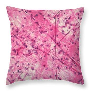 Areolar Connective Tissue Throw Pillow