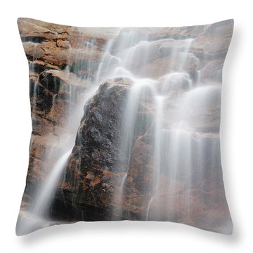 Arethusa Falls - Crawford Notch State Park New Hampshire Usa Throw Pillow by Erin Paul Donovan