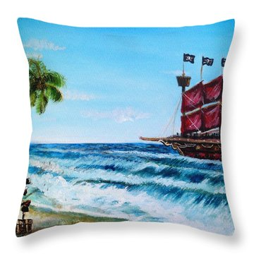 Argh 'bout Time Mateys Throw Pillow by Shana Rowe Jackson