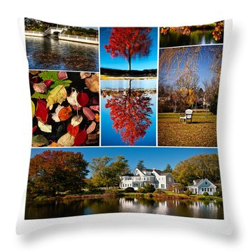 Argyle Lake Fall Poster Throw Pillow by Vicki Jauron