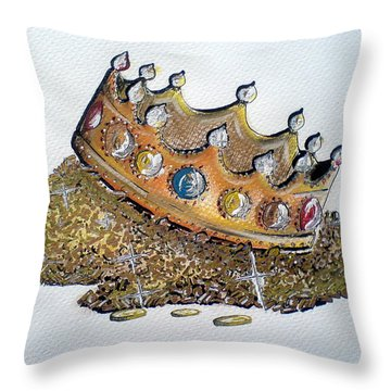Aristocracy Disseminating Wealth Throw Pillow by Ahonu