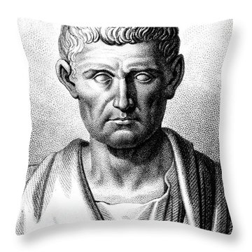 Aristotle, Ancient Greek Polymath Throw Pillow by Science Source