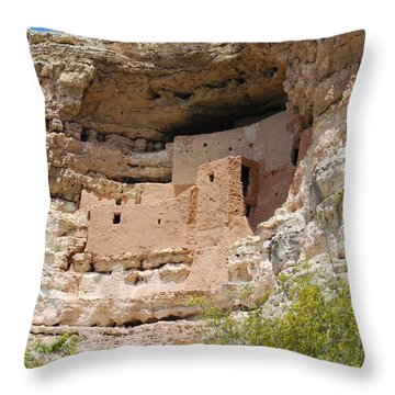Arizona Cliff Dwellings Throw Pillow
