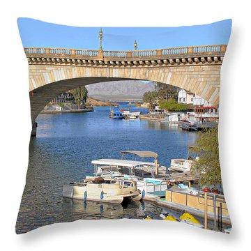 Arizona Import - Iconic London Bridge Throw Pillow by Christine Till