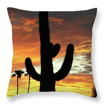 Arizona Sunrise 01 Throw Pillow