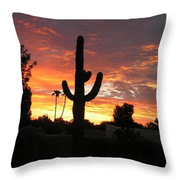 Arizona Sunrise 03 Throw Pillow