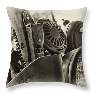 Army Motorcycle Throw Pillow
