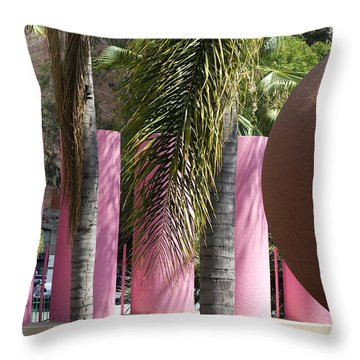 Throw Pillow featuring the photograph Around In Pershing Square by Lorraine Devon Wilke