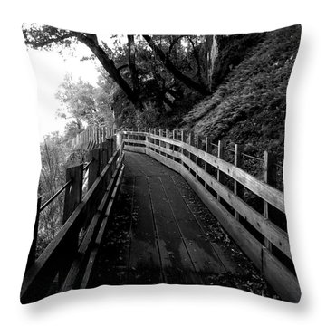 Around The Bend Throw Pillow by Leah Moore