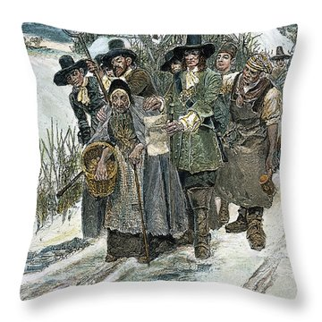 Arresting A Witch Throw Pillow by Granger