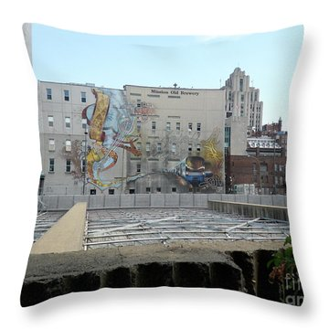 Art Du Commun Mural Mission Old Brewery Throw Pillow