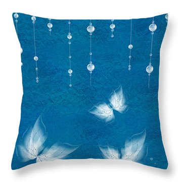 Art En Blanc - S11dt01 Throw Pillow by Variance Collections