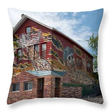 Art House South Chicago Mural Throw Pillow by Loriannah Hespe