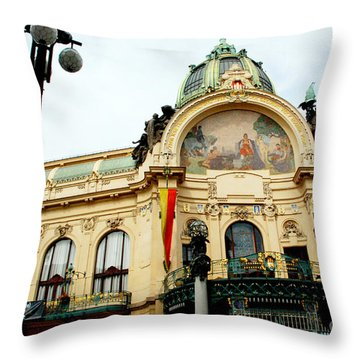 Art On A Building Throw Pillow by Pravine Chester