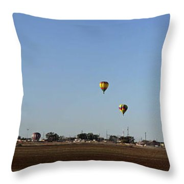 Artesia's Balloon And Bluegrass Festival Throw Pillow
