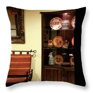 Throw Pillow featuring the photograph Artful Doorway by Lorraine Devon Wilke