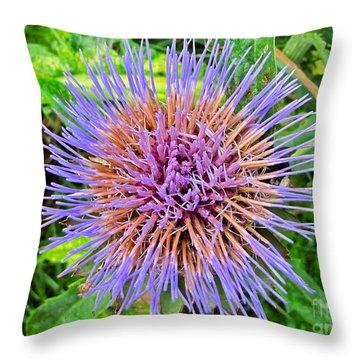 Artichoke Blossom Throw Pillow