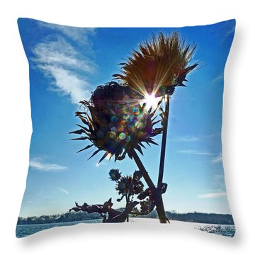 Throw Pillow featuring the photograph Artichoke Bones by William Fields