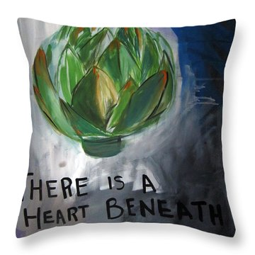 Artichoke Throw Pillow by Linda Woods