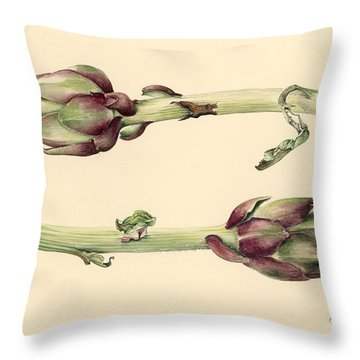 Artichokes Throw Pillow by Alison Cooper