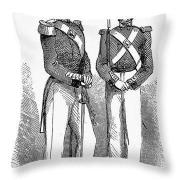 Artillery Company, 1855 Throw Pillow by Granger