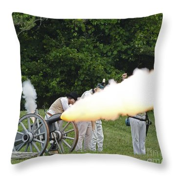 Artillery Demonstration Throw Pillow by JT Lewis