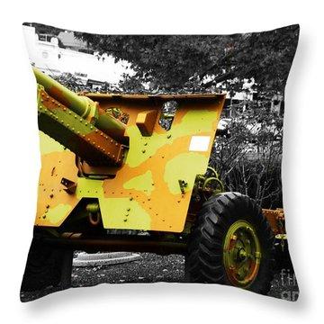 Throw Pillow featuring the photograph Artillery Piece by Blair Stuart