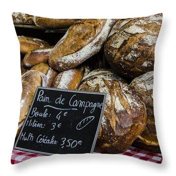 Throw Pillow featuring the photograph Artisan Bread by Marta Cavazos-Hernandez