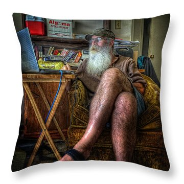 Artist In Repose Throw Pillow