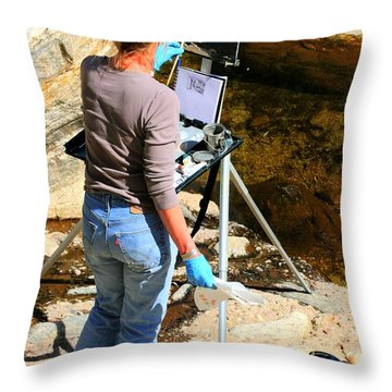Artist Sketch Throw Pillow by Tap On Photo