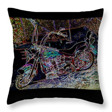 Artistic Harley Montage Throw Pillow