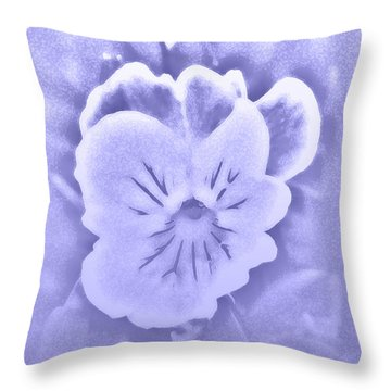 Artistic Pansy Throw Pillow