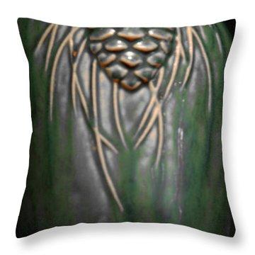 Artistic Pine Cone Vase Throw Pillow by LeeAnn McLaneGoetz McLaneGoetzStudioLLCcom