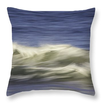 Throw Pillow featuring the photograph Artistic Wave by Betty Denise