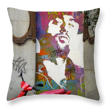 Artistic Words Throw Pillow
