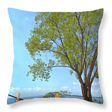 Artist's Art Throw Pillow by Rudy Umans