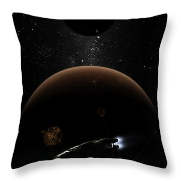 Artists Concept Illustrating The Laws Throw Pillow by Brian Christensen