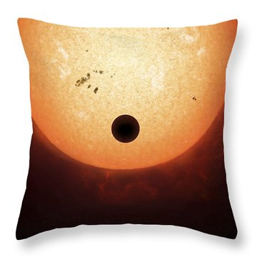 Artists Concept Of An Earth-sized Throw Pillow by Fahad Sulehria