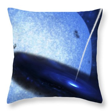 Artists Concept Of Cygnus X-1 Throw Pillow by Fahad Sulehria