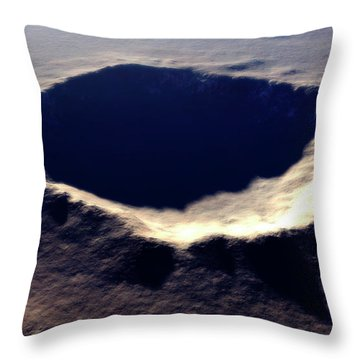 Artists Concept Of Meteor Crater Throw Pillow by Rhys Taylor